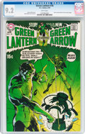 Bronze Age (1970-1979):Superhero, Green Lantern #76 (DC, 1970) CGC NM- 9.2 White pages....