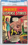 Golden Age (1938-1955):Horror, Lawbreakers Suspense Stories #11 (Charlton, 1953) CGC FN 6.0 Creamto off-white pages....
