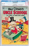 Golden Age (1938-1955):Cartoon Character, Four Color #386 Uncle Scrooge (Dell, 1952) CGC FN 6.0 Cream tooff-white pages....