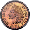 Proof Indian Cents, 1886 1C Type One PR65 Red PCGS. CAC. Snow-PR3....