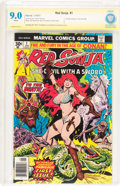 Bronze Age (1970-1979):Miscellaneous, Red Sonja #1 Authentic Signature Series (Marvel, 1977) CBCS VF/NM9.0 White pages....