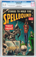 Golden Age (1938-1955):Horror, Spellbound #23 (Atlas, 1954) CGC FN- 5.5 Off-white to whitepages....
