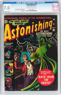 Golden Age (1938-1955):Horror, Astonishing #19 (Atlas, 1952) CGC FN/VF 7.0 Off-white to whitepages....