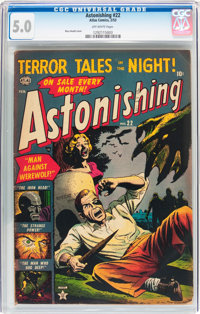 Astonishing #22 (Atlas, 1953) CGC VG/FN 5.0 Off-white pages