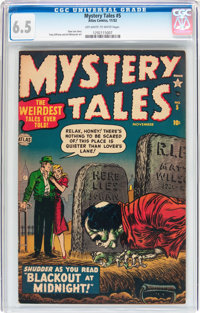 Mystery Tales #5 (Atlas, 1952) CGC FN+ 6.5 Off-white to white pages