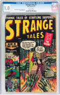 Golden Age (1938-1955):Horror, Strange Tales #1 (Atlas, 1951) CGC FR 1.0 Brittle pages....