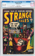 Golden Age (1938-1955):Horror, Strange Tales #16 (Atlas, 1953) CGC VG/FN 5.0 Off-white pages....
