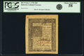 Colonial Notes:Delaware, Colony of Delaware January 1, 1776 18 Pence Fr. DE-74. PCGS ChoiceAbout New 58.. ...