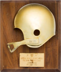 Football Collectibles:Others, 1968 Golden Helmet Pro Bowl Award Presented to Jerry Kramer. ...