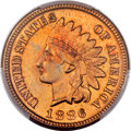 Indian Cents, 1886 1C Type One MS66+ Red PCGS....