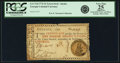 Colonial Notes:Georgia, Georgia 1776 Orange or Green Seal $1 Green Justice Seal Fr. GA-71d.PCGS Very Fine 25 Apparent.. ...