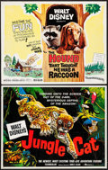 "Movie Posters:Documentary, Jungle Cat & Others Lot (Buena Vista, 1959). Half Sheets (2), Uncut Sheet of Lobby Cards (22"" X 28""), & Lobby Cards (4) (11""... (Total: 7 Items)"