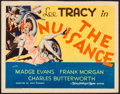 "Movie Posters:Comedy, The Nuisance (MGM, 1933). Title Lobby Card (11"" X 14""). Comedy.. ..."