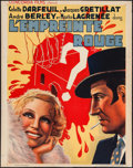 """Movie Posters:Foreign, L'empreinte Rouge (Concordia Films, 1937). Trimmed Pre-War Belgian (23.25"""" X 30.25""""). Foreign.. ..."""