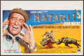 "Movie Posters:Adventure, Hatari! (Paramount, 1962). Belgian (14.25"" X 21""). Adventure.. ..."