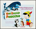 "Movie Posters:Animation, Pinocchio & Other Lot (Buena Vista, R-1978). Half Sheet (22"" X28"") and Window Card (14"" X 22""). Animation.. ... (Total: 2 Items)"