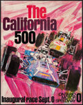 "Movie Posters:Action, California 500 (Ontario Motor Speedway, 1970). Racing Poster (22"" X 28""). Action.. ..."