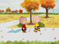 Animation Art:Production Cel, Peanuts The Charlie Brown and Snoopy Show Charlie Brown andLinus Production Cel Setup and Drawing Group of 3 ... (Total: 3Original Art)