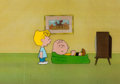 Animation Art:Production Cel, Peanuts The Charlie Brown and Snoopy Show Charlie Brown andSally Production Cel Setup and Drawing Group of 4 ... (Total: 5Original Art)