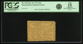 Colonial Notes:Massachusetts, Massachusetts June 18, 1776 1 Shilling 8 Pence Fr. MA-198. PCGS Fine 15 Apparent.. ...