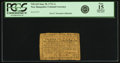 Colonial Notes:New Hampshire, New Hampshire June 28, 1776 1 Shilling Fr. NH-165. PCGS Fine 15Apparent.. ...