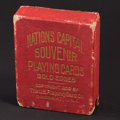 Miscellaneous:Other, Nation's Capital Souvenir Playing Cards Gold Edges Copyright 1909.....