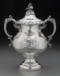 Silver Holloware, American:Other , An American Silver-Plated Covered Sugar, mid-late 19th century.Marks: 1857. 10-1/4 inches high (26.0 cm). ...