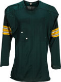Football Collectibles:Uniforms, Early 1960's Jerry Kramer Game Worn Green Bay Packers Jersey - Numbers Removed....