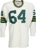 Football Collectibles:Uniforms, Early 1960's Jerry Kramer Game Worn Green Bay Packers Jersey - Possibly Worn in '62 Championship Game....