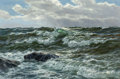Fine Art - Painting, American:Modern  (1900 1949)  , Alexander Dzigurski (Russian/American, 1911-1995). Seascape.Oil on canvas. 24 x 36 inches (61 x 91.4 cm). Signed lower ...