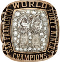 Football Collectibles:Others, 1984-85 San Francisco 49ers Super Bowl XIX Championship Ring Presented to Fred Dean....