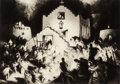 Fine Art - Work on Paper:Print, Gene Kloss (American, 1903-1996). Processional -- Taos,1948. Aquatint and drypoint on paper. 9-7/8 x 13-7/8 inches (25....