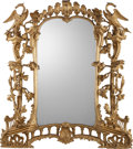 Decorative Arts, British:Other , A George II-Style Carved Giltwood Figural Mirror, in the Manner ofThomas Chippendale, circa 1900. 60 inches high x 55 inche...