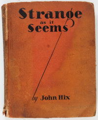 Strange As It Seems Hardback Book (Sears Publishing, 1931) Condition: GD
