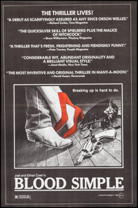 """Blood Simple (Circle Films, 1984). One Sheet (24"""" X 36.5""""). Thriller"""