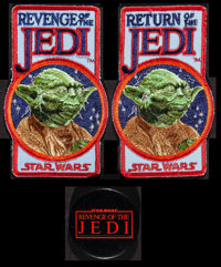 """Revenge of the Jedi & Other Lot (20th Century Fox, 1982). Fan Club Patches (2) (3.25"""" X 5.25"""") and Pinback..."""