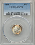 Roosevelt Dimes, 1950-S 10C MS67 Full Bands PCGS. PCGS Population (32/4). NGC Census: (36/6). Mintage: 20,440,000. Numismedia Wsl. Price for...