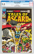 Silver Age (1956-1969):Superhero, Tales of Asgard #1 Don and Maggie Thompson Collection pedigree(Marvel, 1968) CGC VF/NM 9.0 White pages....