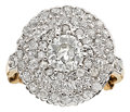 Estate Jewelry:Rings, Antique Diamond, Platinum-Topped Gold Ring. ...