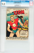 Golden Age (1938-1955):Science Fiction, Captain Atom #3 (Nationwide Publications, 1951) CGC VF/NM 9.0Off-white to white pages....