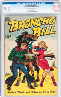 Broncho Bill #11 (United Features Syndicate/Standard, 1949) CGC NM- 9.2 Off-white to white pages