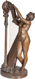 Sculpture, After Henri Marius Ding (French, 1844-1898). La Muse de Berlioz (Stella Montis). Bronze with brown patina. 37 inches (94...