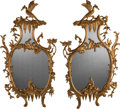 Decorative Arts, Continental:Other , A Pair of Chippendale-Style Carved Giltwood Mirrors, late 20thcentury. 61 inches high (154.9 cm). ... (Total: 2 Items)