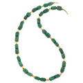 Estate Jewelry:Necklaces, Aventurine Quartz, Gold Necklace. ...