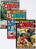 Bronze Age (1970-1979):Adventure, Conan the Barbarian Related Short Box Group (Marvel, 1970s-80s)....