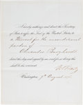 Autographs:U.S. Presidents, Ulysses S. Grant Affix the Seal Signed....