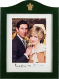 Autographs:Non-American, Prince Charles and Princess Diana Signed Photo in PresentationFrame. ...