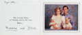 Autographs:Non-American, Prince Charles and Princess Diana Christmas Card Signed. ...