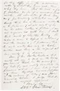 Autographs:Authors, Nathaniel Hawthorne Autograph Letter Signed.... (Total: 2 Items)