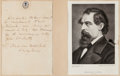 Autographs:Authors, Charles Dickens Autographed Note Signed....